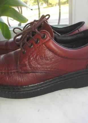Кожаные туфли rieker antistress 43 р