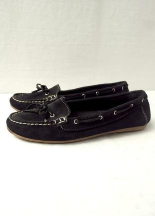 Стильные черные брендовые макасины, топсайдеры roberto santi. размер uk6/eur39.