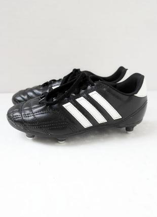 Детские футбольные копы бутсы adidas. размер uk1/ eur 33.