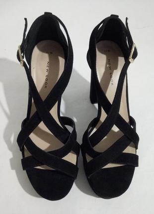Босоножки на каблуке черные замшевые, босоножки, босоніжки