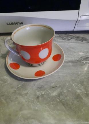 Чашка з блюдцем