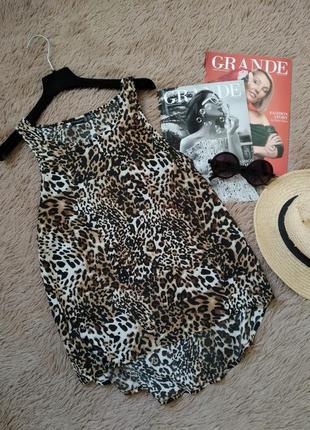 Коасивая майка леопард/блузка/блуза/кофточка