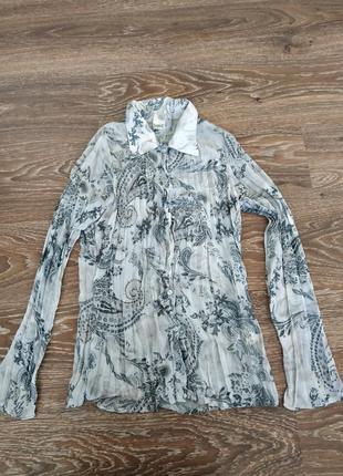 Шифоновая блуза плиссе, м
