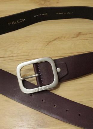 Кожаный пояс d&co, длиной 97 см.ширина пояса 4.5 см.