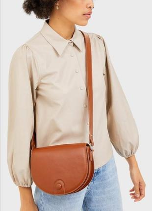 Красивая коричневая сумка кросс боди crossbody bag stradivarius