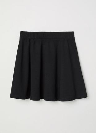 Трикотажная юбка h&m 0317812001 черная