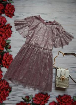 🌿невероятное воздушное блестящее платье. возраст 12-13лет🌿