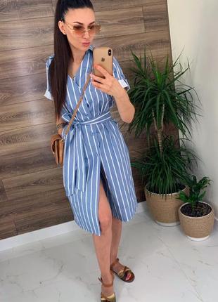 Платье в полоску летнее