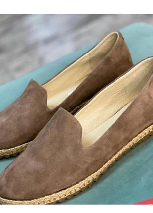 Очень удобные базовые кожаные туфли балетки