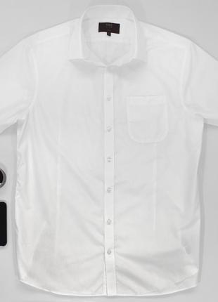 Белая рубашка s marks & spencer slim