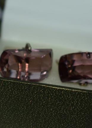 Интересные запонки 7 серебро 875 проба звезда позолота вес 10,1 грамм винтаж