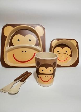 Набір посуд дитячий бамбуковой бамбук