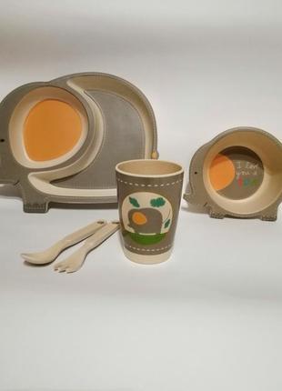 Посуд бамбук дитячий