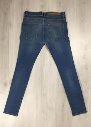N9 джинсы зауженные zaraman зара синие голубые