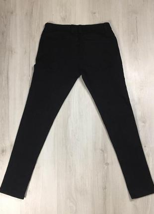 N9 джинсы зауженные denim co чёрные штаны деним
