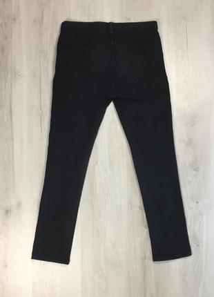 N9 джинсы черные зауженные denim co чёрные штаны деним