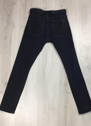 N9 джинсы зауженные next некст чёрные штаны