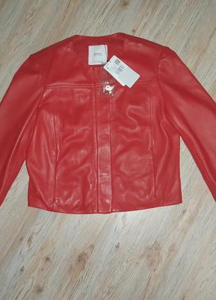 Кожаная куртка курточка косуха mango манго s