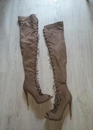 Ботфорты с шнуровкой и молнией