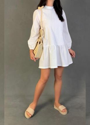 Платье рубашка свободного кроя zara