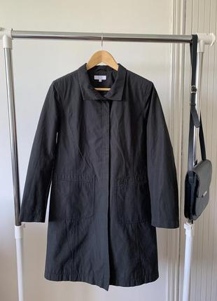 Строгое чёрное пальто petite collection