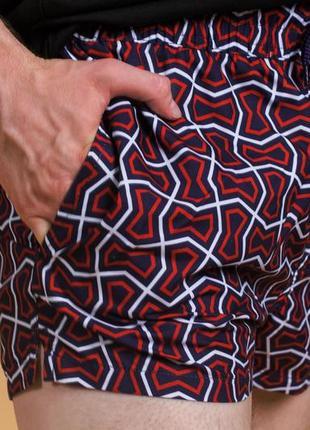 Пляжные короткие шорты-плавки в геометрический принт asos