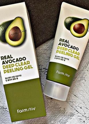 Пилинг-гель для лица с авокадо farm stay real deep clear peeling gel avocadо