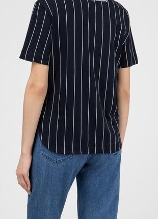 Базовая полосатая футболка moschino оригинал