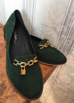 Новые туфли, натуральный замш размер 40