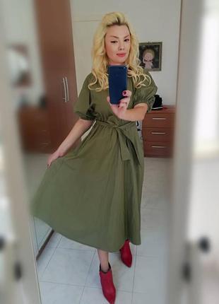 Оливковое платье италия🇮🇹