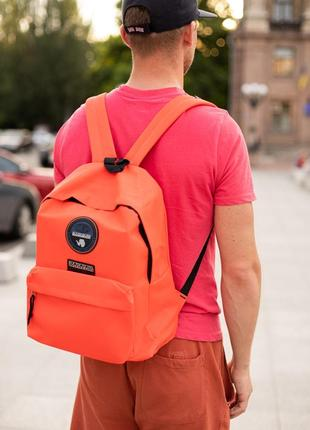 Рюкзак napapijri orange купить напапири оранжевый