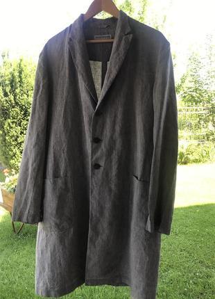 Лляний чоловічий піджак emporio armani