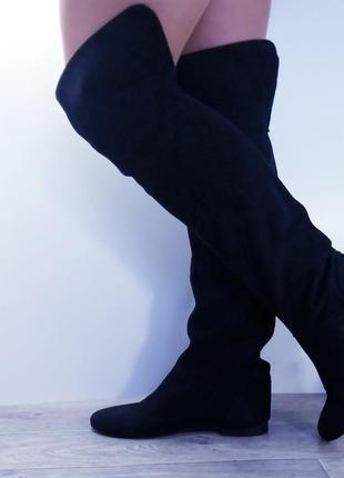 🥑 качественные брендовые модные сапоги ботфорды  🥑