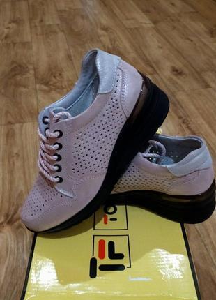 Кожаные туфли кроссовки р.36