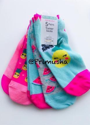 Primark носочки для девочки низкие