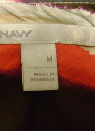 Цветное в полоску летнее платье фирмы old navy, размер м3 фото