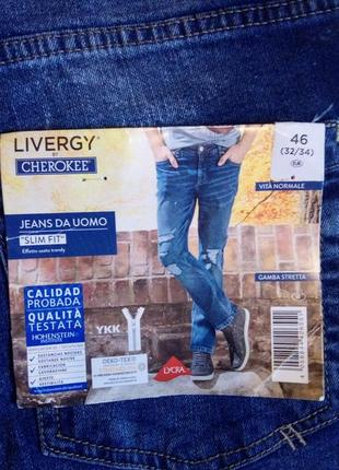 Мужские стильные джинсы  livergy by cherokee,  46 p.  евро,  цена акционная