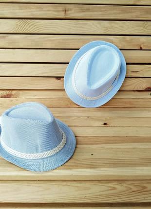 Крутая шляпа в полоску, котон, джинс, подростковая.