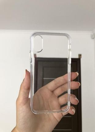 Чехол прозрачный на айфон 10,x,xs