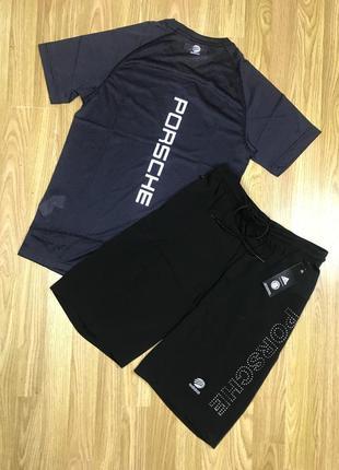Комплект мужской для спорта шорты  футболка