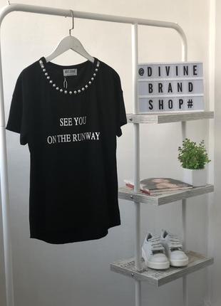 Красивая футболка с бусинами monte cervino
