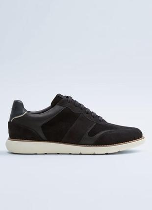 Крутые замшевые кожаные кроссовки zara размер 41,42,43