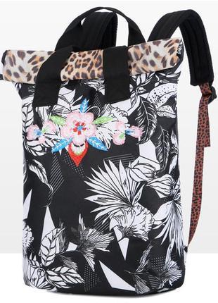 Adidas originals городской рюкзак тканевый цветы