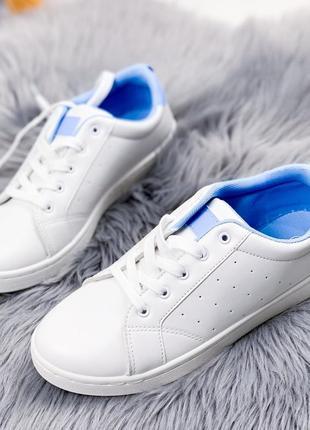 Кеды женские monelli белые   голубой