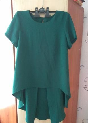 Женская блузка с удлиненной спинкой topshop