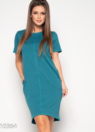 Трикотажное летнее платье с потайными карманами размеры s, m, l, xl, xxl, 3xl