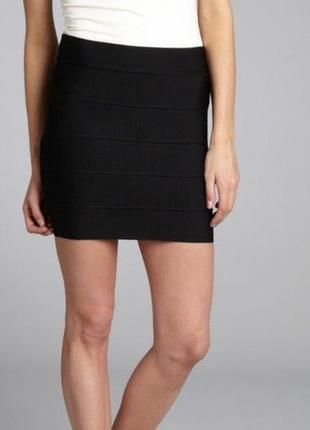 🌿 бандажная чёрная юбка new look