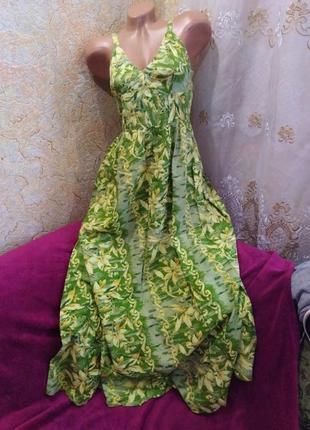 Срочная распродажа!!! красивое летнее зеленое платье макси, 42-48р