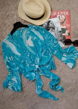 Шикарная блузка на завязке/блуза/кофточка/накидка/рубашка