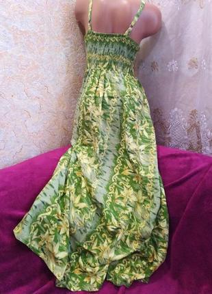 Срочная распродажа!!! красивое летнее зеленое платье-сарафан макси, 42-48р